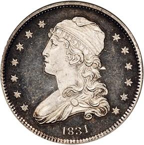 1831 25C PF obverse