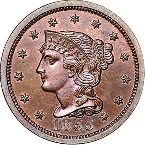 1855 1C PF obverse