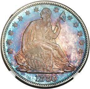 1886 50C MS obverse