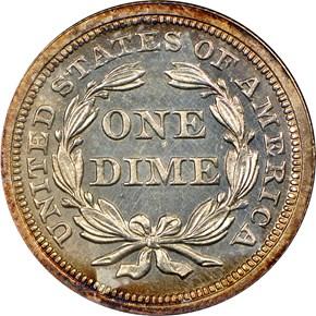 1856 10C PF reverse