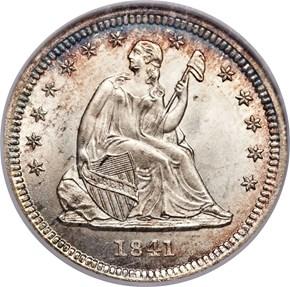 1841 O 25C MS obverse