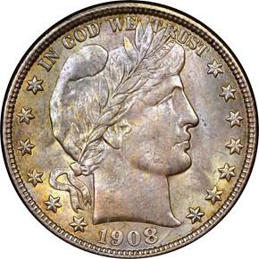1908 O 50C MS obverse