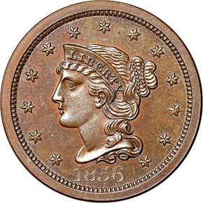 1856 LARGE 1C PF obverse