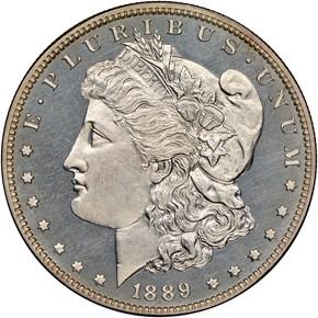 1889 $1 PF obverse