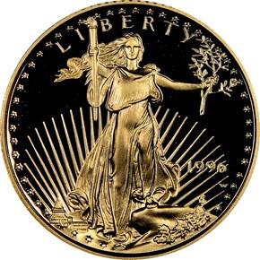 1996 W EAGLE G$5 PF obverse