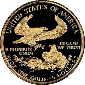 1994 W EAGLE G$5 PF reverse