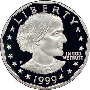 1999 P $1 PF obverse