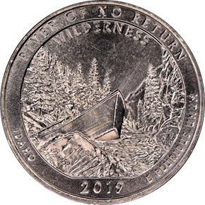 2019 W River Great American Coin Hunt 25C MS reverse
