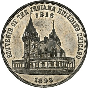 1893 E-11, WM INDIANA BUILDING 37mm MS reverse