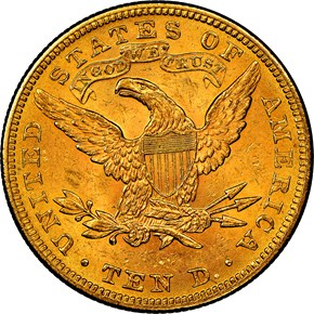 1897 $10 MS reverse