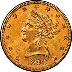 1898 $10 MS obverse