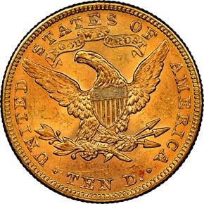 1898 $10 MS reverse