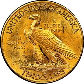 1913 $10 MS reverse