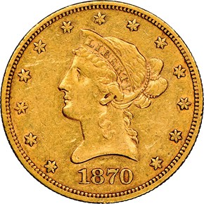 1870 CC $10 MS obverse