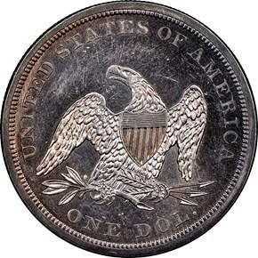 1840 $1 MS reverse