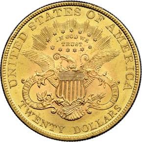 1895 $20 MS reverse