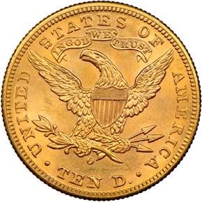 1899 O $10 MS reverse