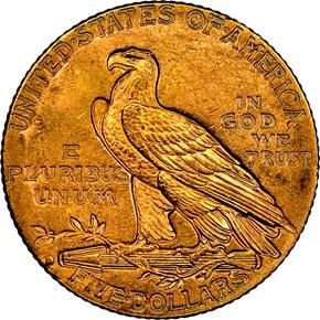 1914 D $5 MS reverse