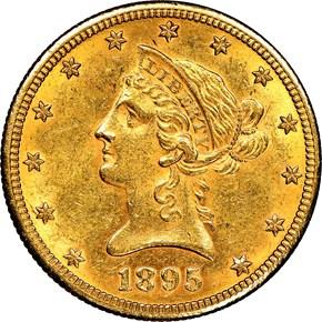 1895 O $10 MS obverse