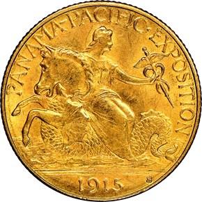 1915 S PANAMA-PACIFIC $2.5 MS obverse