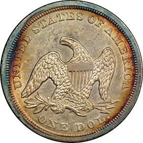 1846 O S$1 MS reverse