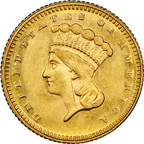 1873 CLOSED 3 G$1 MS obverse