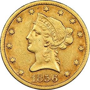 1856 S $10 MS obverse