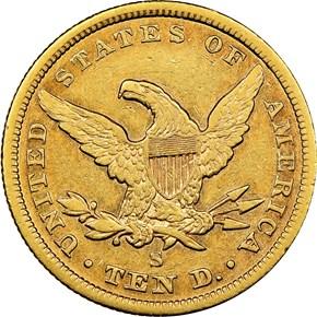 1856 S $10 MS reverse