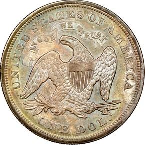 1871 $1 MS reverse