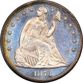1873 $1 PF obverse