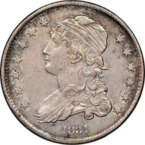 1831 25C MS obverse