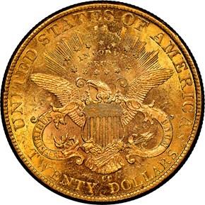 1893 CC $20 MS reverse