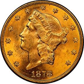 1878 S $20 MS obverse
