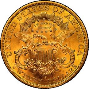 1878 S $20 MS reverse