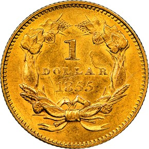 1855 G$1 MS reverse