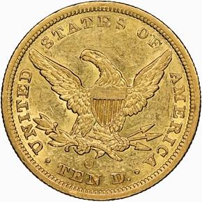 1844 O $10 MS reverse