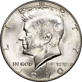 1970 D 50C MS obverse