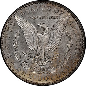 1884 $1 PF reverse