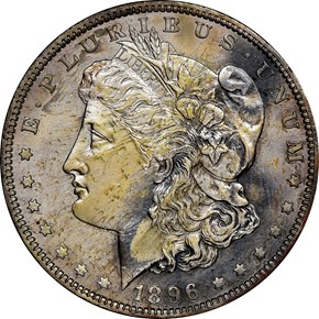 1896 $1 PF obverse