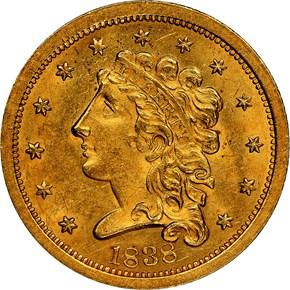 1838 HM-1 $2.5 MS obverse