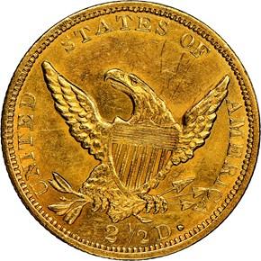 1838 HM-1 $2.5 MS reverse