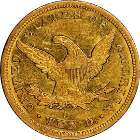 1846 O $10 MS reverse