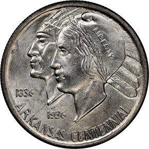 1938 ARKANSAS 50C MS obverse