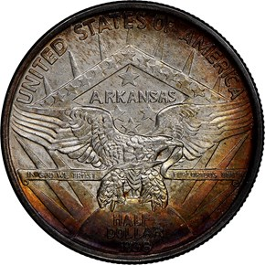 1938 ARKANSAS 50C MS reverse