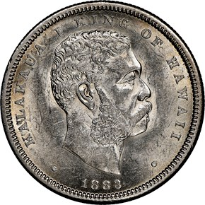1883 HAWAII 50C MS obverse