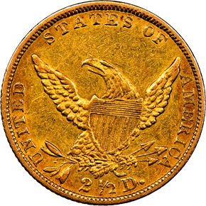 1839 HM-1 $2.5 MS reverse