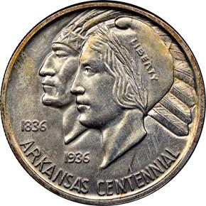 1935 ARKANSAS 50C MS obverse