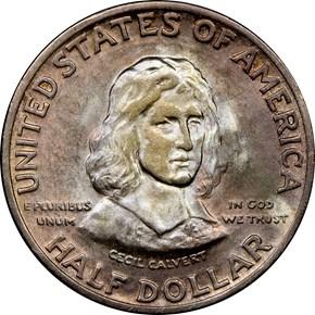 1934 MARYLAND 50C MS obverse