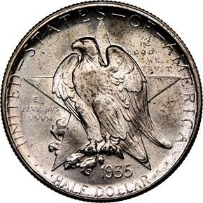1935 D TEXAS 50C MS obverse