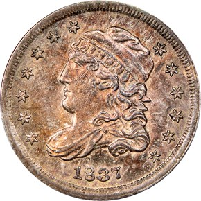 1837 CAPPED H10C MS obverse